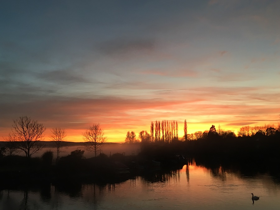 River Frome Sunset